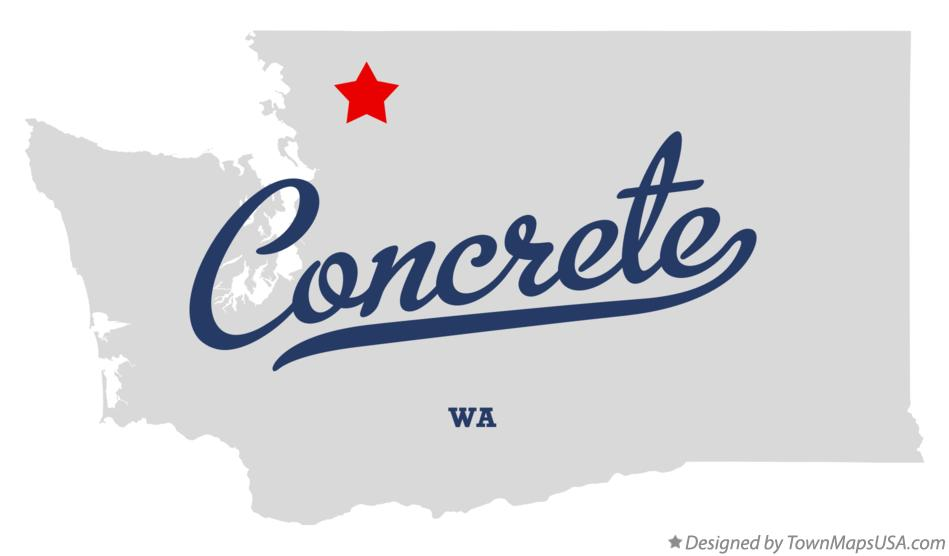 Map of Concrete Washington WA