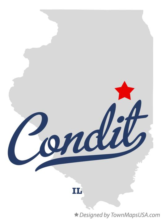 Map of Condit Illinois IL