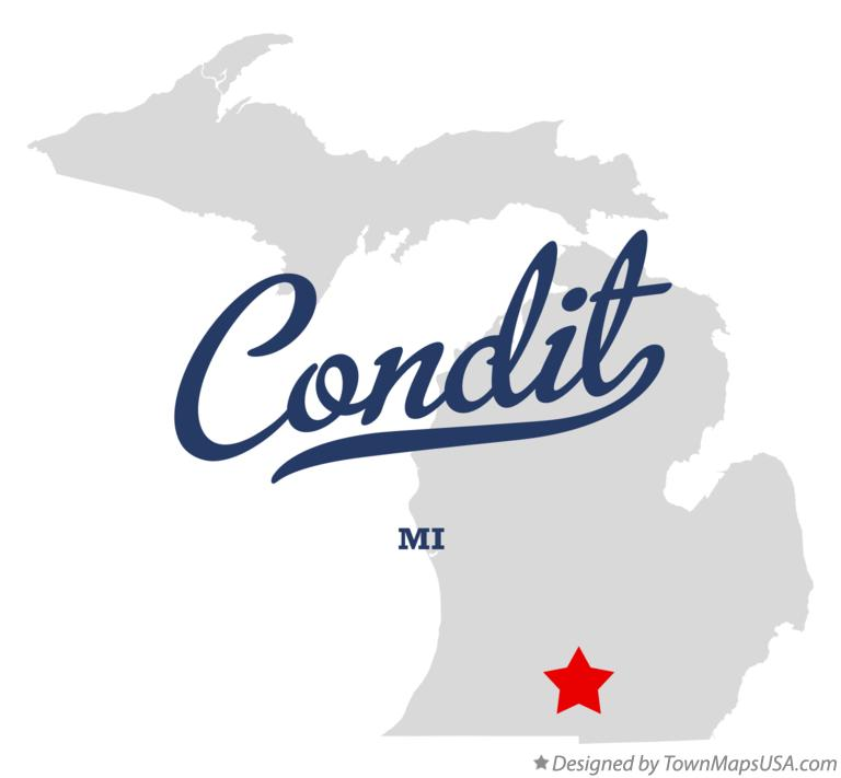 Map of Condit Michigan MI