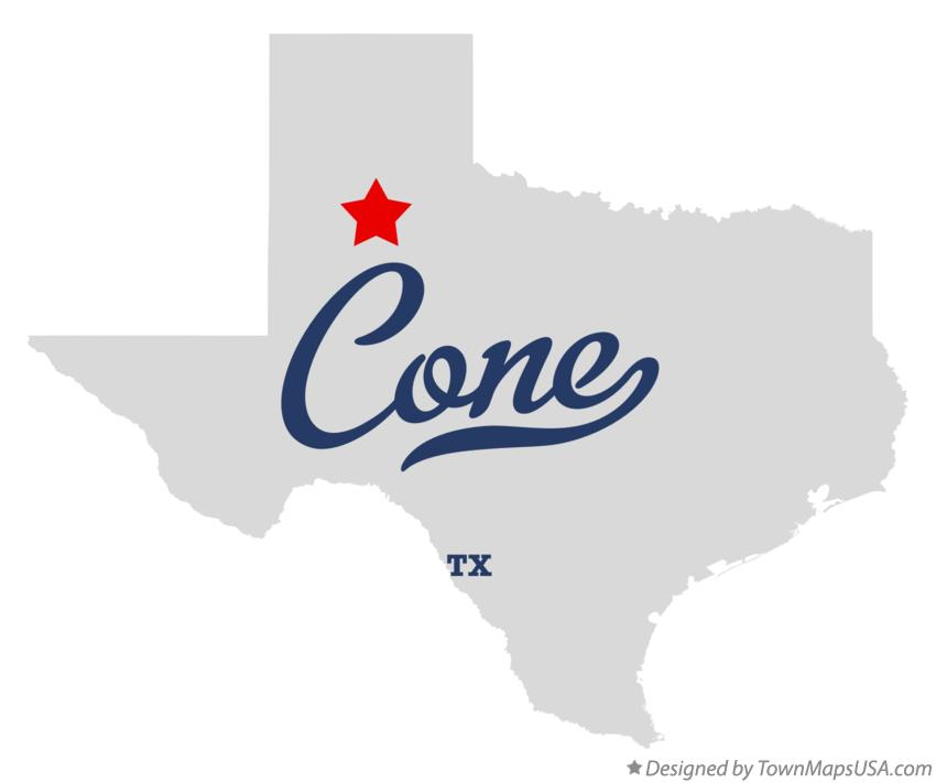 Map of Cone Texas TX