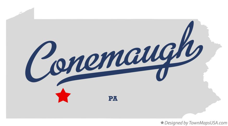 Map of Conemaugh Pennsylvania PA