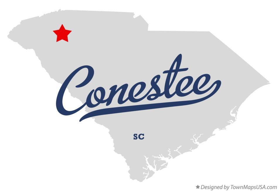 Map of Conestee South Carolina SC
