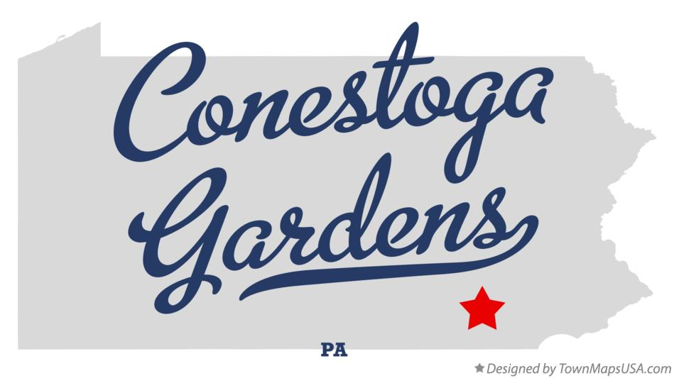 Map of Conestoga Gardens Pennsylvania PA