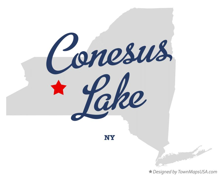 Map of Conesus Lake New York NY