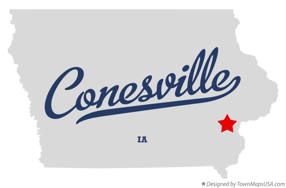 Map of Conesville Iowa IA