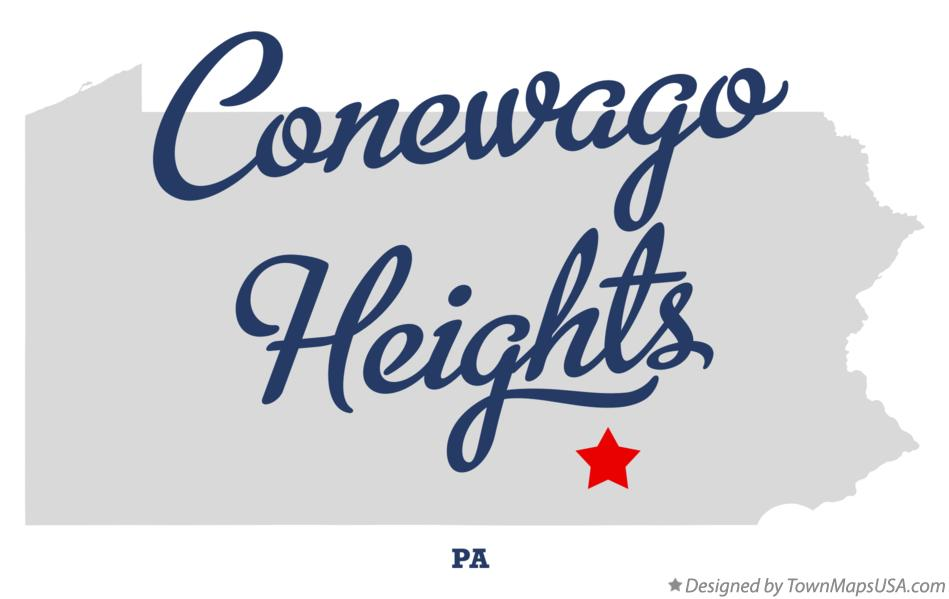 Map of Conewago Heights Pennsylvania PA