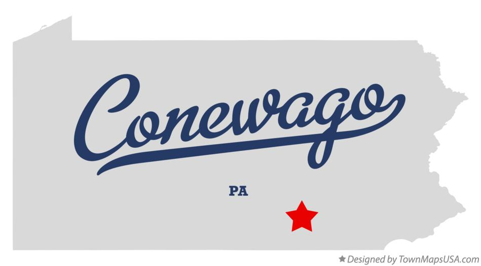 Map of Conewago Pennsylvania PA