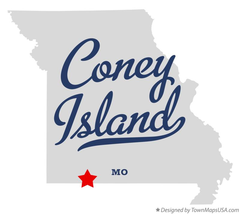 Map of Coney Island Missouri MO
