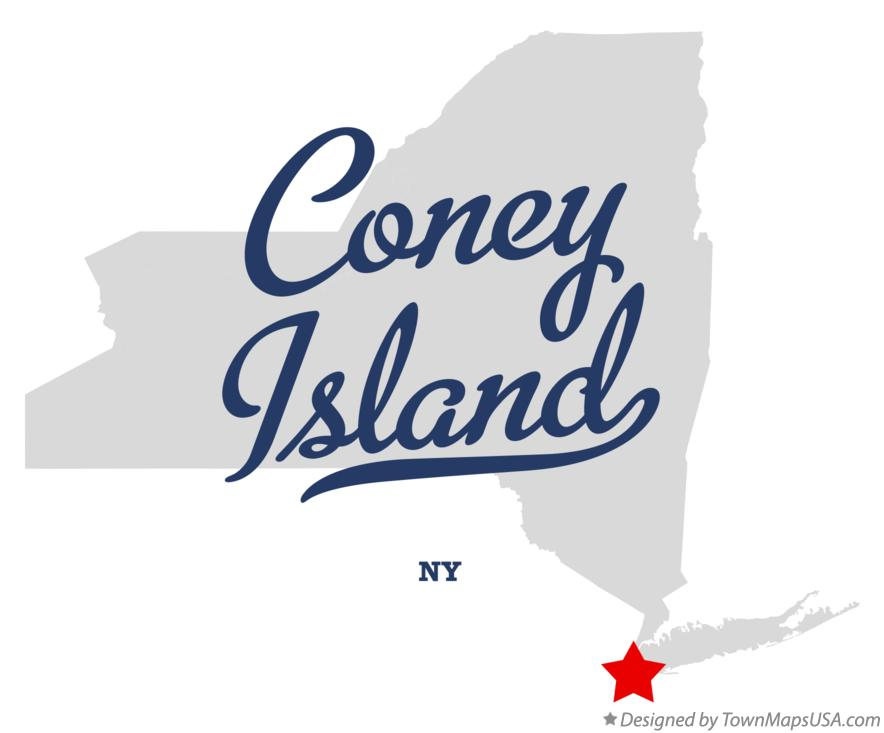 Map of Coney Island New York NY