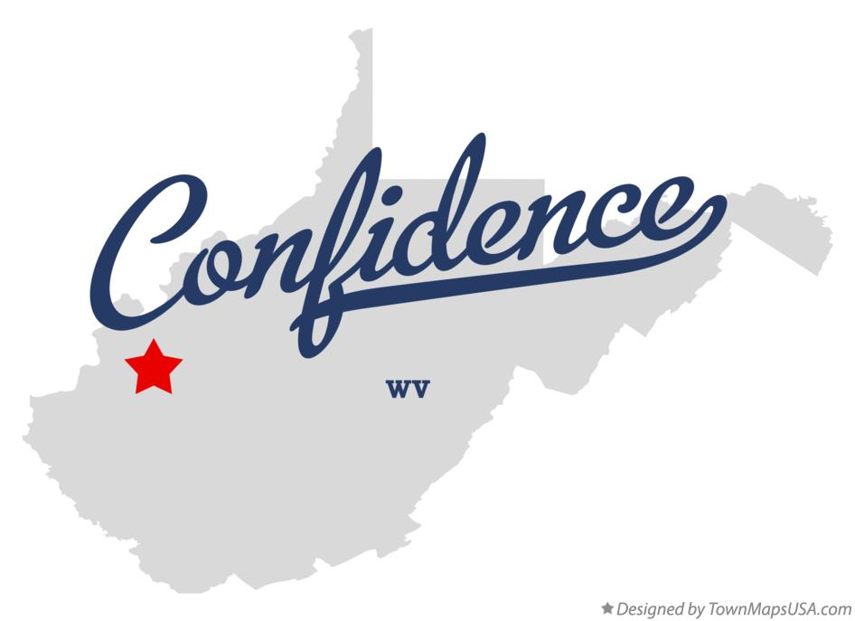 Map of Confidence West Virginia WV
