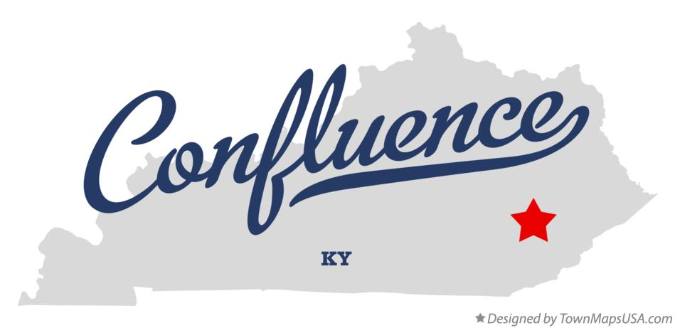 Map of Confluence Kentucky KY
