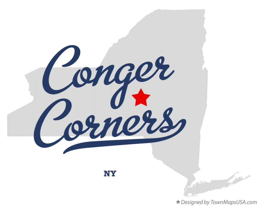 Map of Conger Corners New York NY