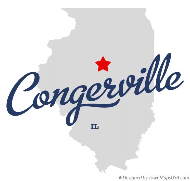 Map of Congerville Illinois IL