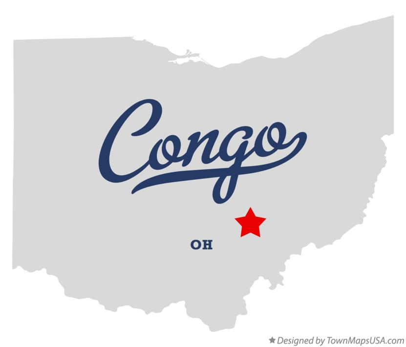 Map of Congo OH Ohio