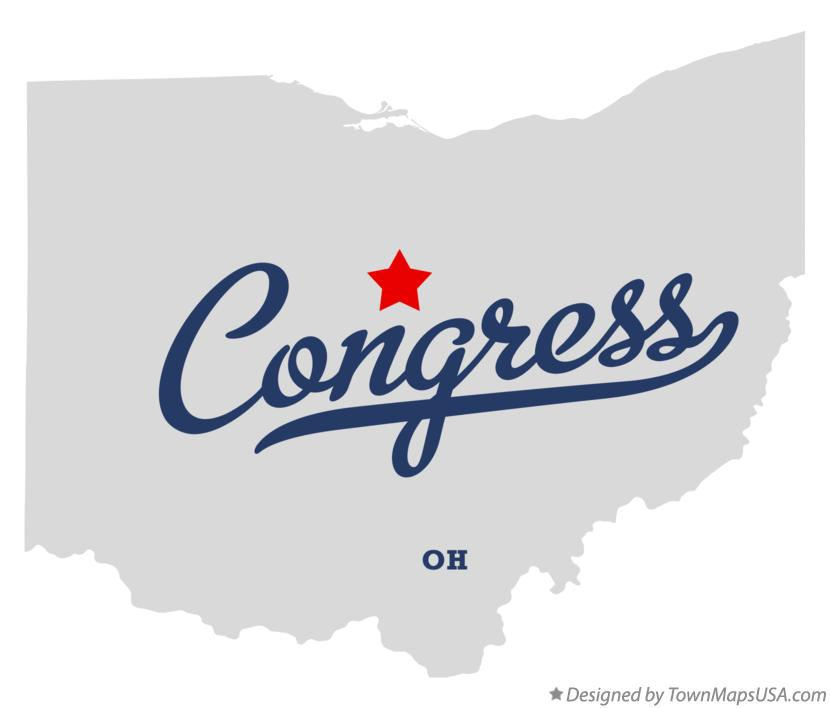 Map of Congress Ohio OH