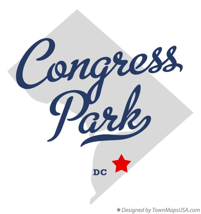 Map of Congress Park District Of Columbia DC