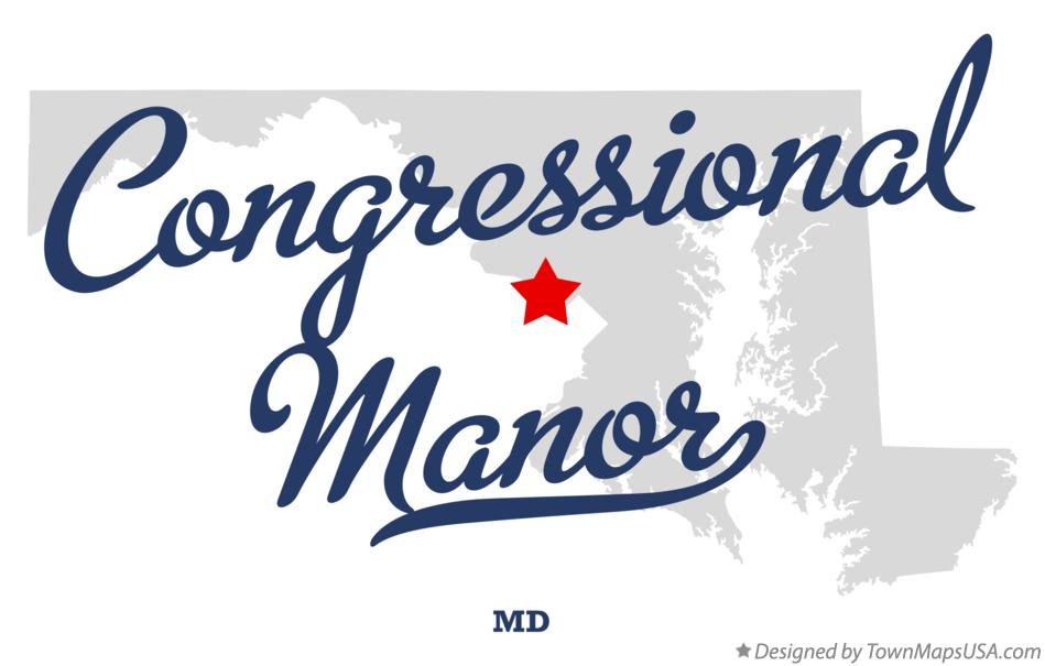 Map of Congressional Manor Maryland MD