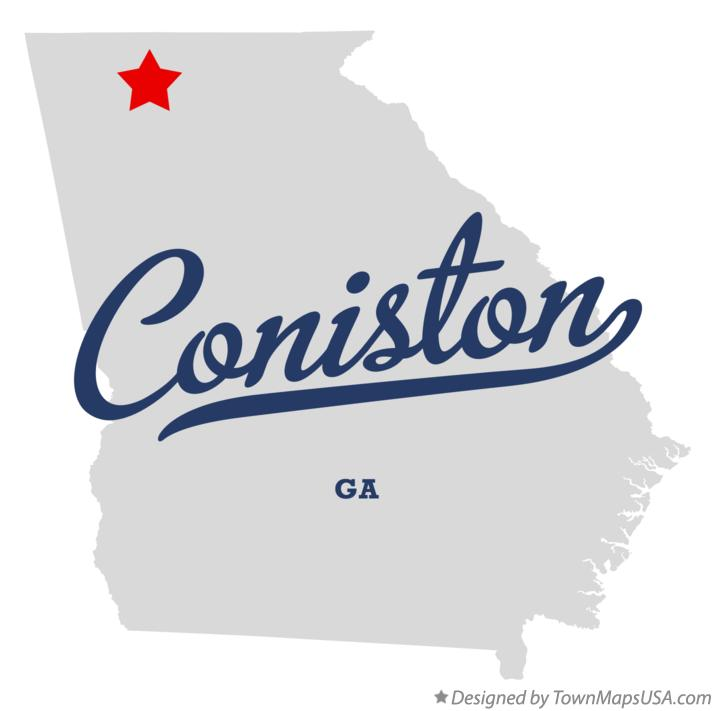 Map of Coniston Georgia GA