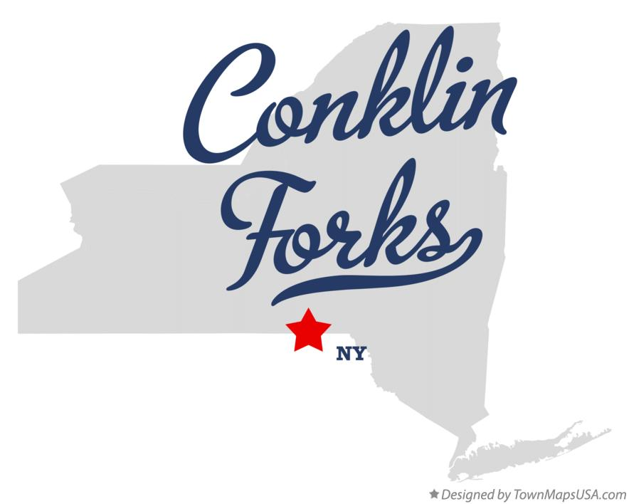 Map of Conklin Forks New York NY
