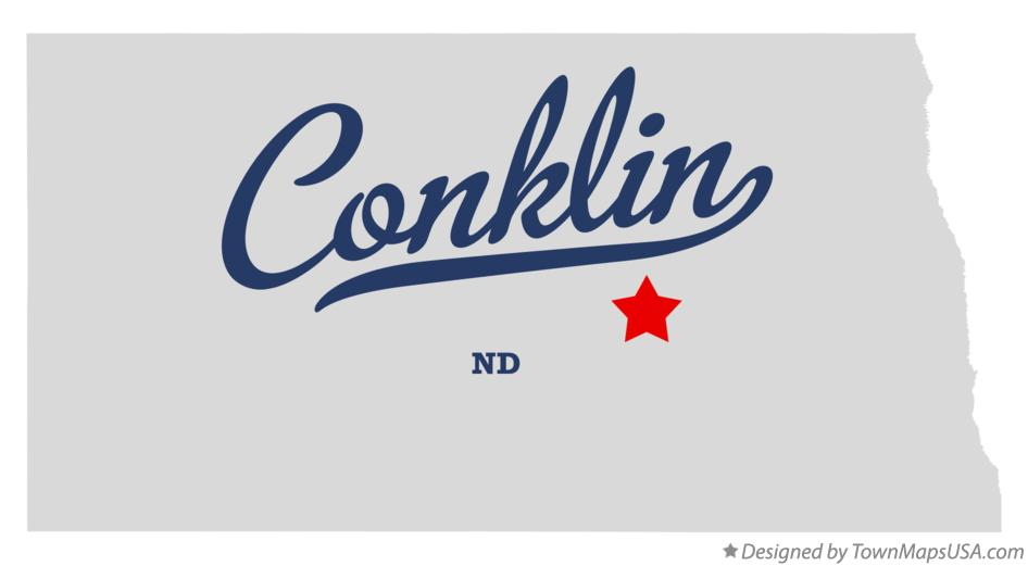 Map of Conklin North Dakota ND