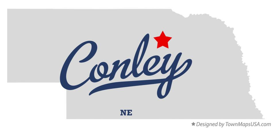 Map of Conley Nebraska NE