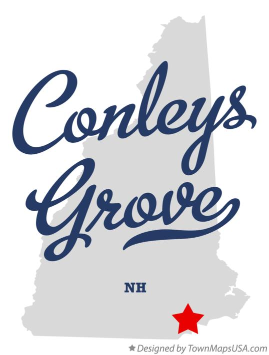 Map of Conleys Grove New Hampshire NH
