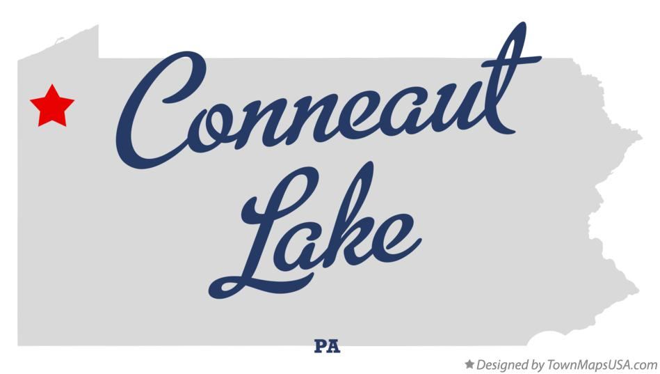 map of conneaut lake pa Map Of Conneaut Lake Pa Pennsylvania map of conneaut lake pa