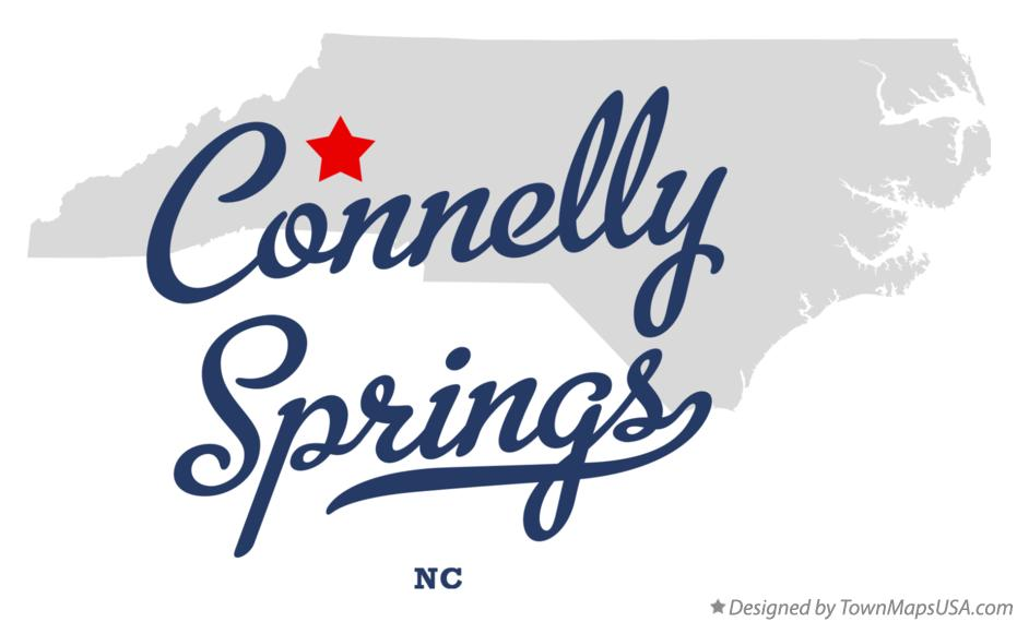 Map of Connelly Springs North Carolina NC