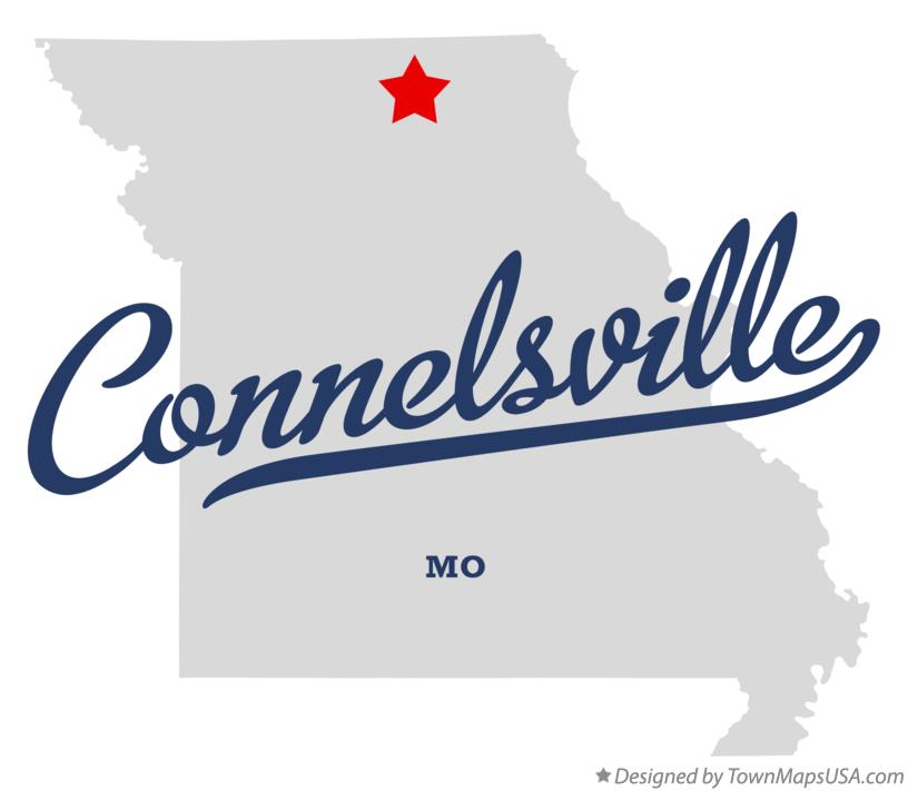 Map of Connelsville Missouri MO