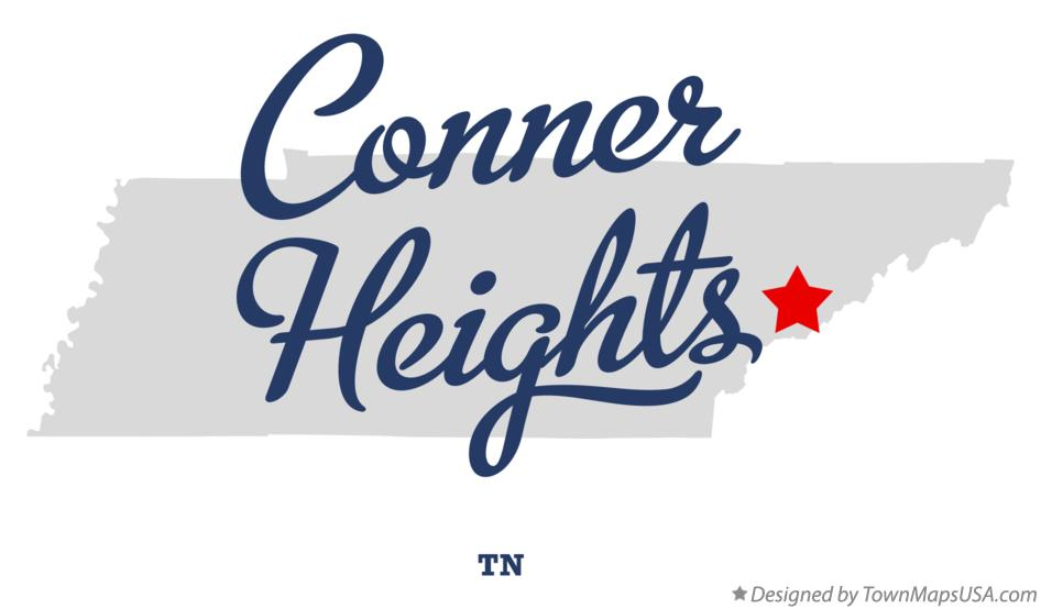Map of Conner Heights Tennessee TN