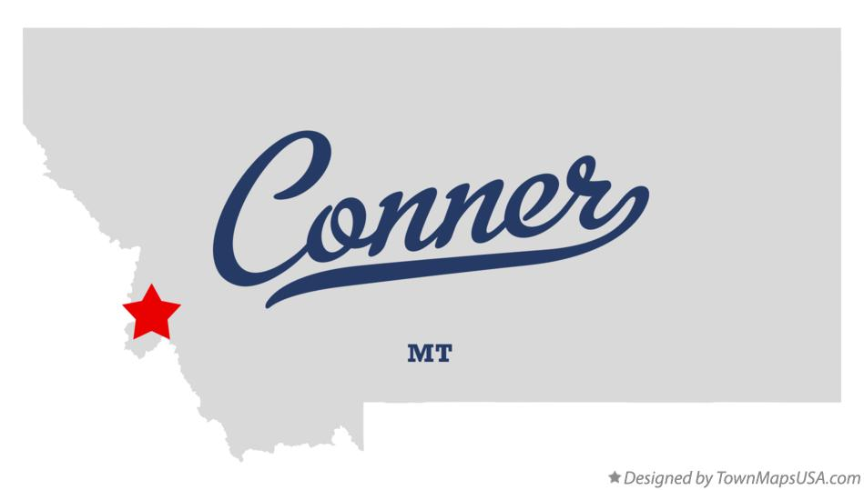 Map of Conner Montana MT