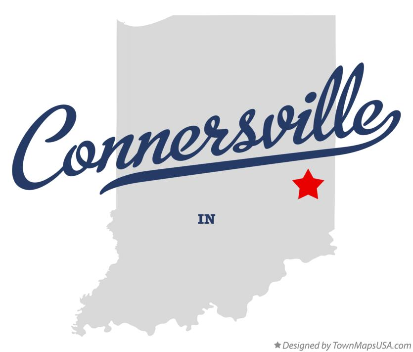 Map of Connersville Indiana IN
