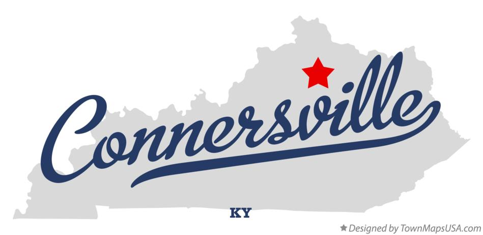 Map of Connersville Kentucky KY