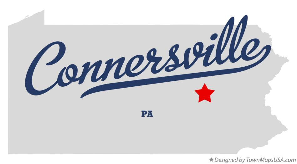 Map of Connersville Pennsylvania PA