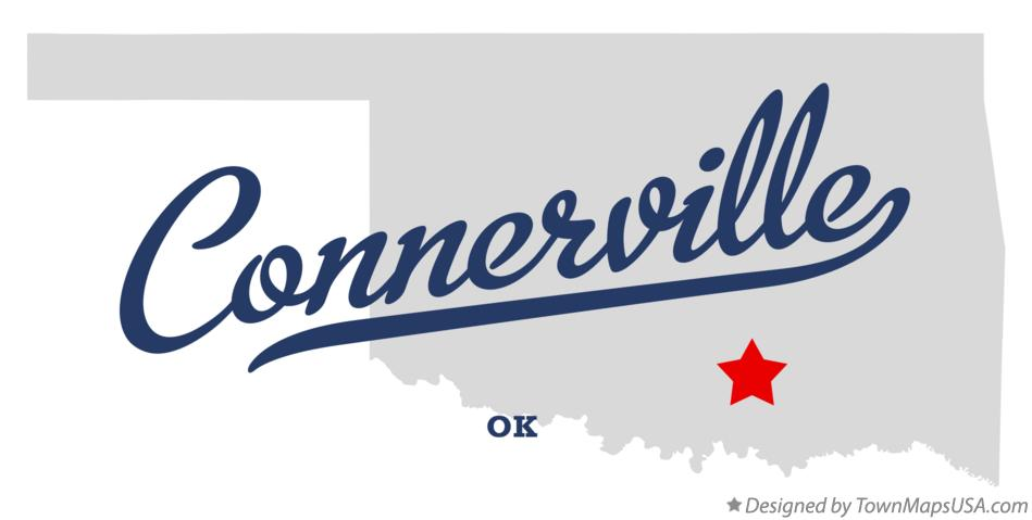 Map of Connerville Oklahoma OK