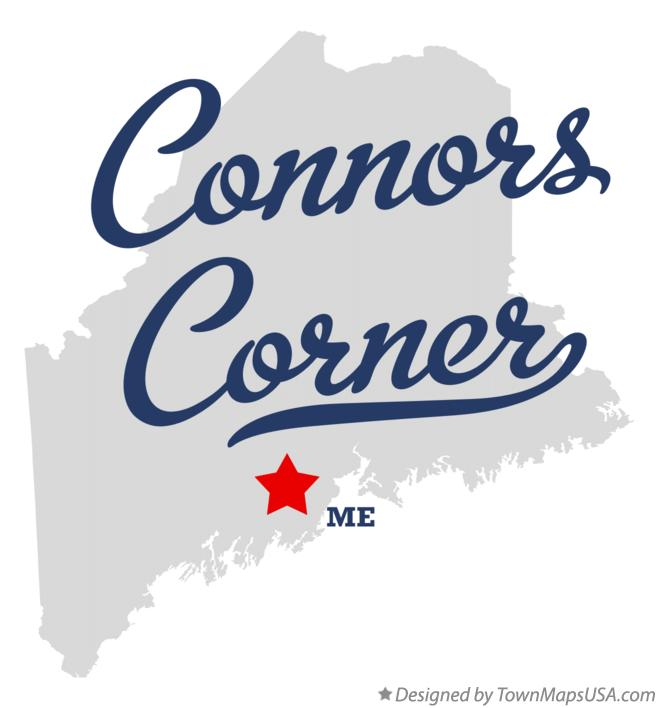 Map of Connors Corner Maine ME