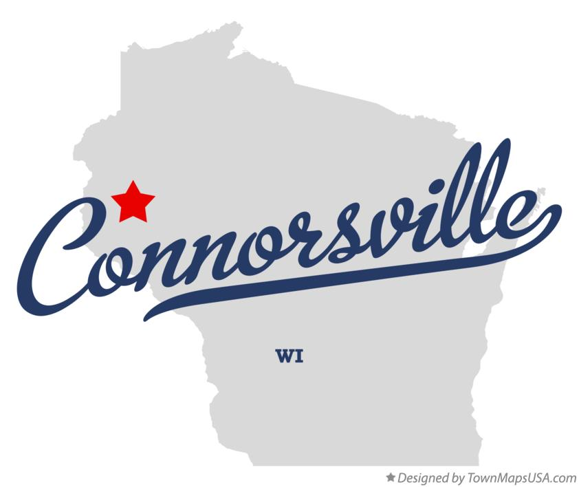 Map of Connorsville Wisconsin WI