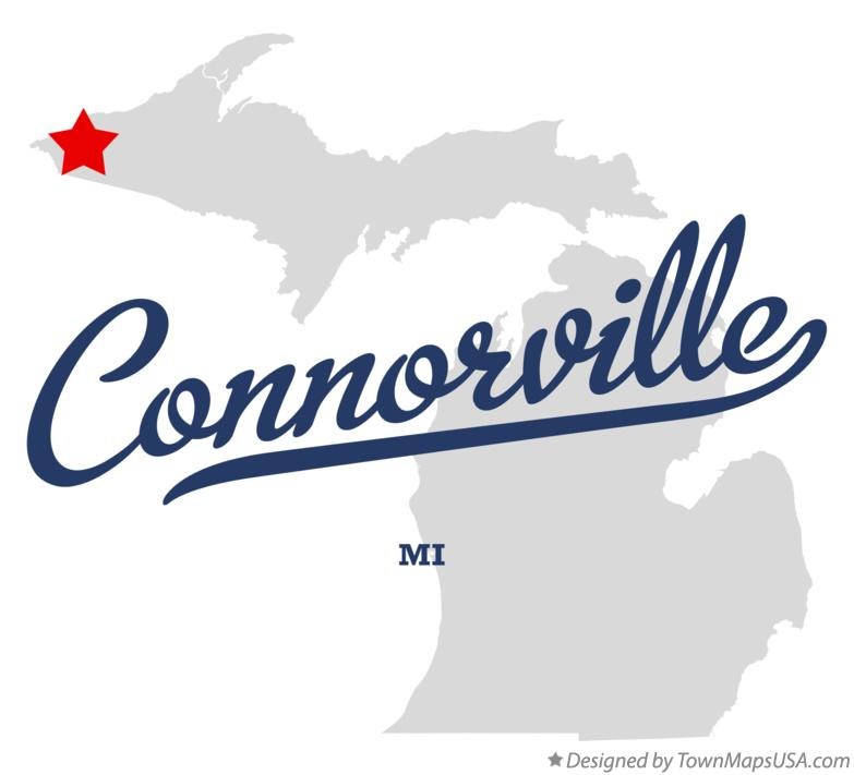 Map of Connorville Michigan MI