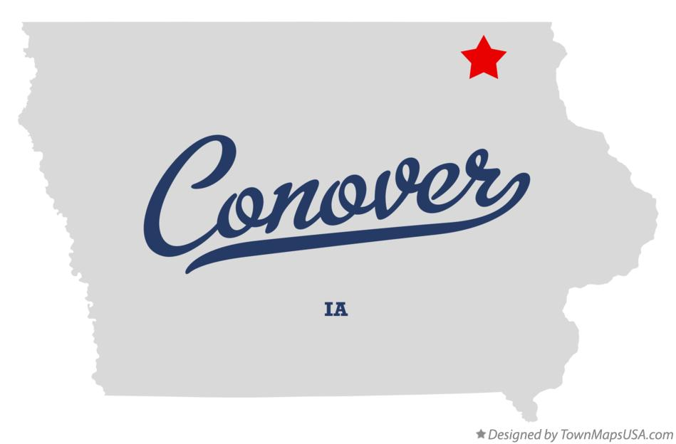 Map of Conover Iowa IA
