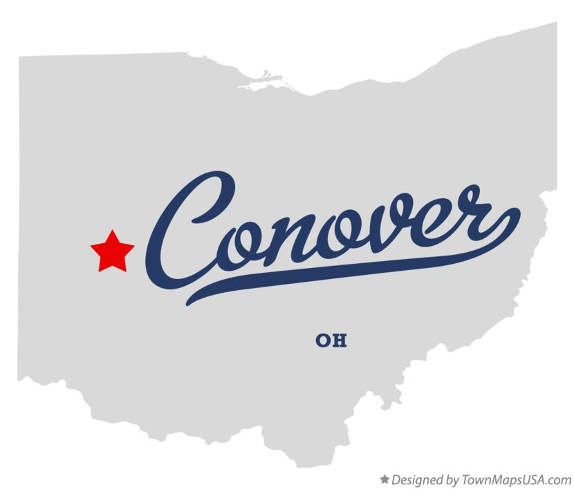 Map of Conover Ohio OH