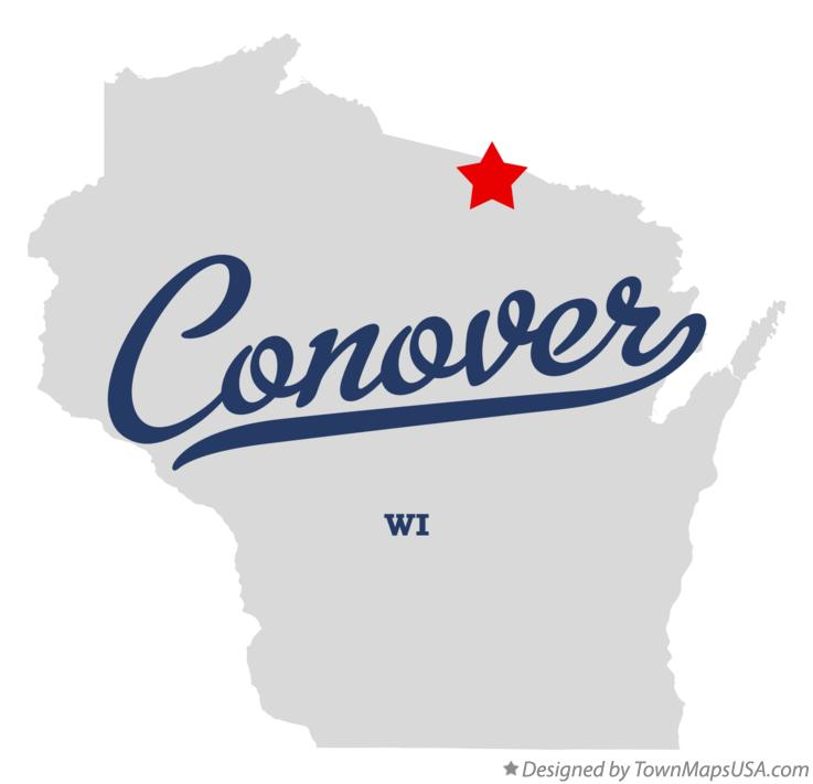 Map of Conover Wisconsin WI