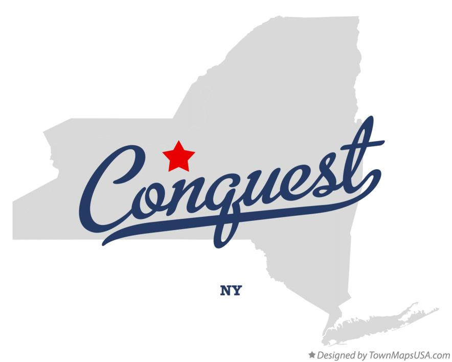 Map of Conquest New York NY