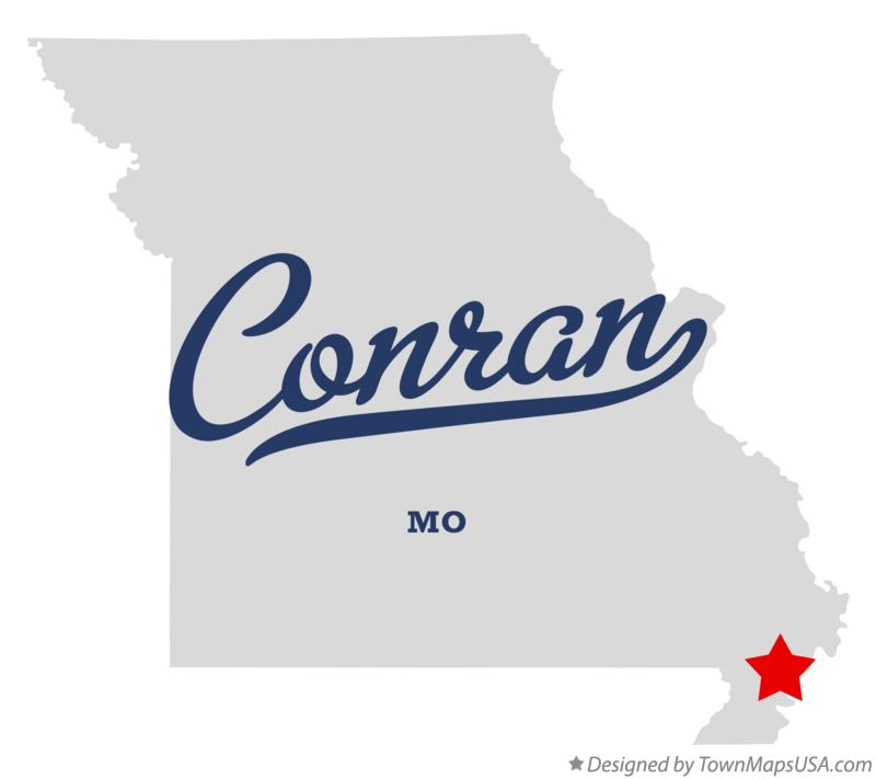 Map of Conran Missouri MO