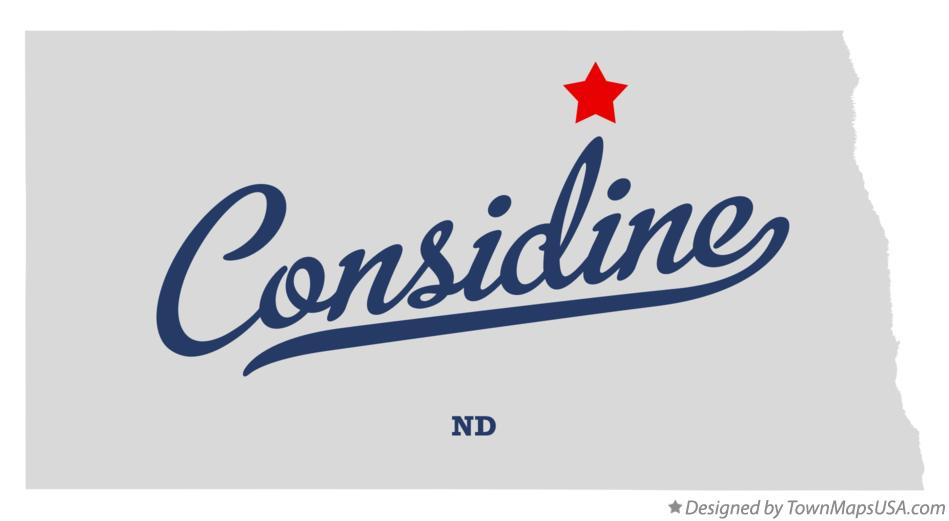 Map of Considine North Dakota ND