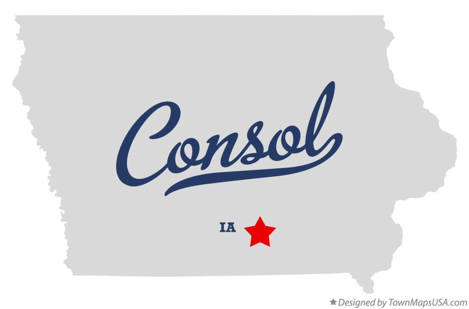 Map of Consol Iowa IA