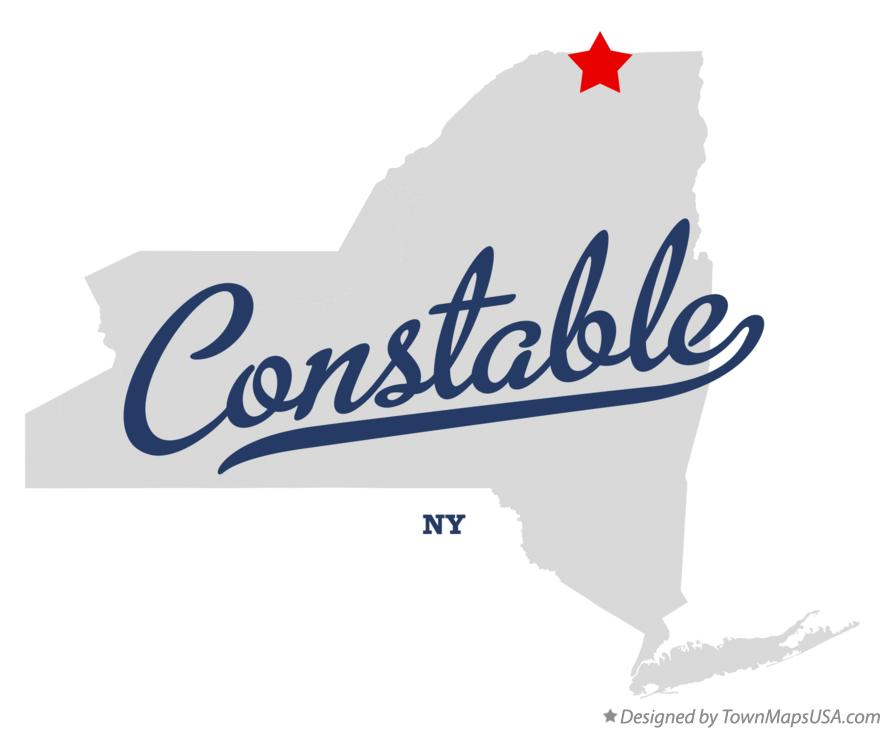 Map of Constable New York NY