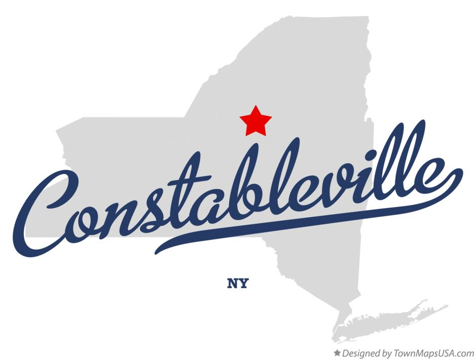 Map of Constableville New York NY