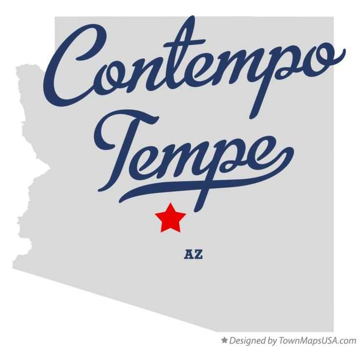 Map of Contempo Tempe Arizona AZ