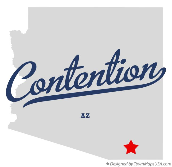 Map of Contention Arizona AZ