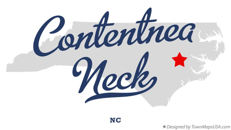 Map of Contentnea Neck North Carolina NC